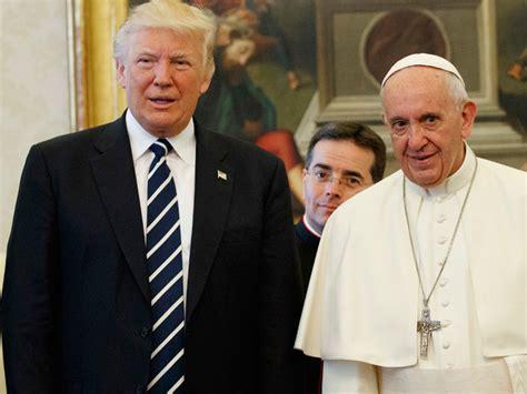 trump pope francis trump meets pope calls it an honour