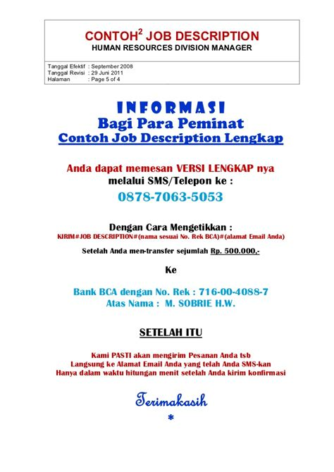 contoh vacancy dengan application resume template contoh