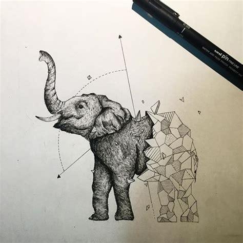best 25+ geometric elephant tattoo ideas on pinterest