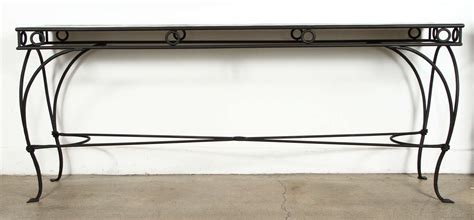 wrought iron sofa table wrought iron moroccan style console or sofa table at 1stdibs