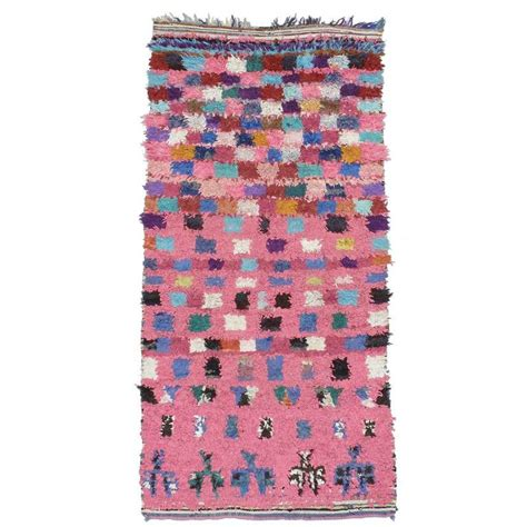 checkers rug pink checkers boucherouite rug at 1stdibs