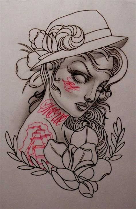 tattoo flash drawings illustrations by emily rose murray ladies
