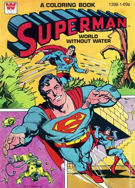 Superman Coloring Book Sc 1965 1980 Whitman Comic Books