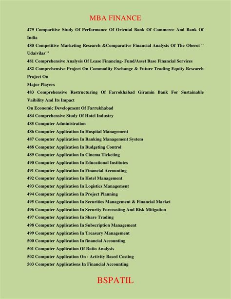 Mba Finance Thesis Topics List Pdf by Hr Project Report Mba Projects Hr Projects Report Autos Post