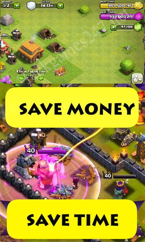 Gems Clash Of Clans Android gems on coc clash of clans apk free