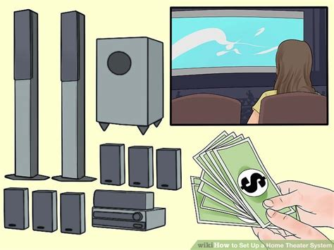ways  set   home theater system wikihow
