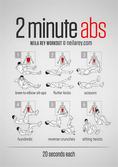 2 minute ab workout pdf http darebee workouts 2minute abs html