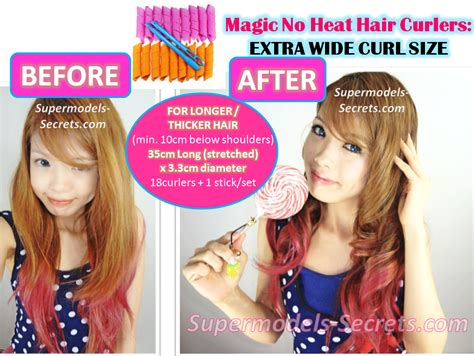 Hair Curler Without Heat by Magic No Heat Hair Curlers Large Wide Size