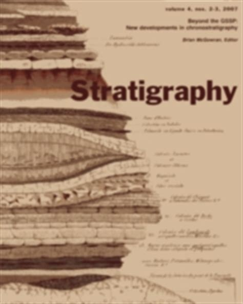 Stratigraphy Microaccess | chronostratigraphic terminology building on principles