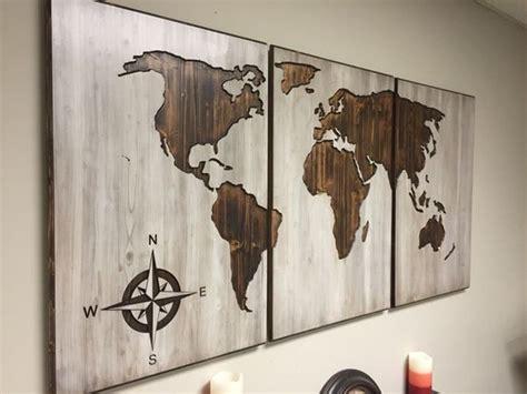Headboard Wall Sticker wall art designs wooden world map wall art wood world map