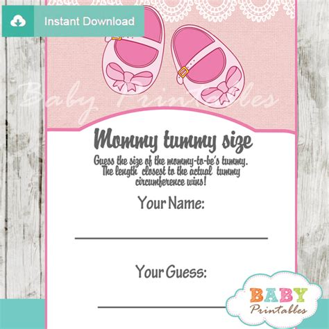 pink baby shoes baby shower games bundle d170 baby