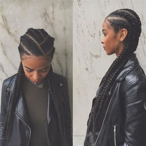 big cornrow hairstyles for black women with bangs 25 best ideas about long cornrows on pinterest small