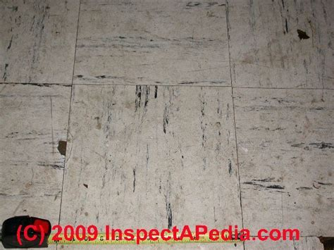 How to identify asbestos floor tiles or asbestos