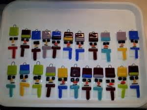 Halloween Craft For Kindergarten - fused glass snow people glass crafts