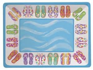 kindergeburtstag im schwimmbad flip flops servier tablett