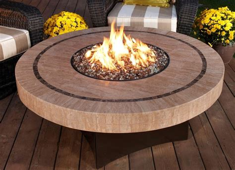 large fire pit table and fire table kit ideas for outdoor patio homesfeed