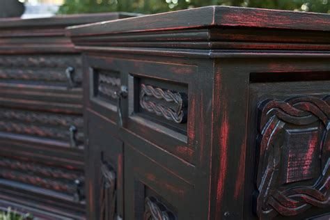 Modernly Shabby Chic Furniture Black And Red Dresser And Black Shabby Chic Furniture