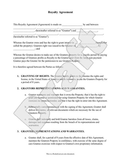 royalty free license agreement template 28 royalty contract template sle royalty agreement form