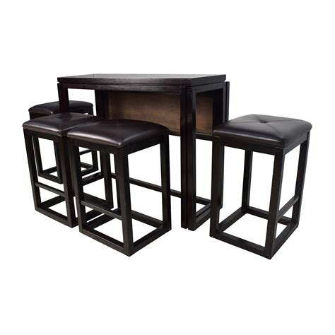 Dining Table With Bar Stools 45 Counter Height Extendable Dining Table With Stools Tables