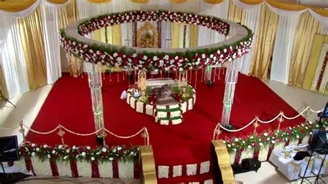 Hindu Wedding stage Decoration in Trivandrum   RDR