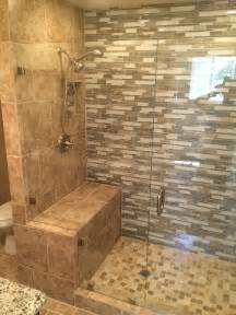 Glass Enclosed Shower With Bench Custom Half Inch Enclosure Patriot Glass And Mirror