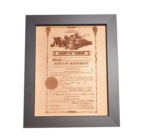 leather marriage certificate photo engraving leather