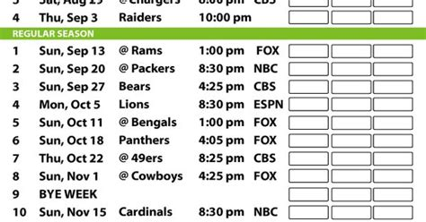 printable saints schedule 2015 2015 seahawks printable schedule google search