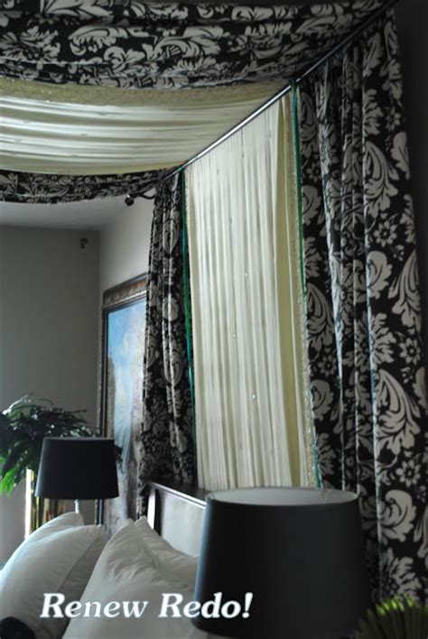 gazebo curtain rods remodelaholic 25 beautiful bed canopies you can diy