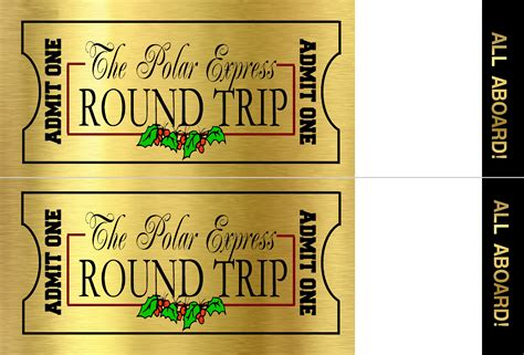 printed ticket font polar express ticket the idea door