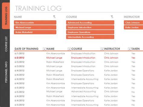 employee training tracker templates office com work