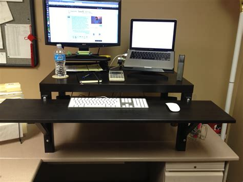 Stand Up Desk Ikea Hack Make Your Own Standing Desk Homesfeed