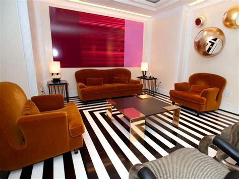 retro red black and white family room hgtv unexpected color palettes hgtv