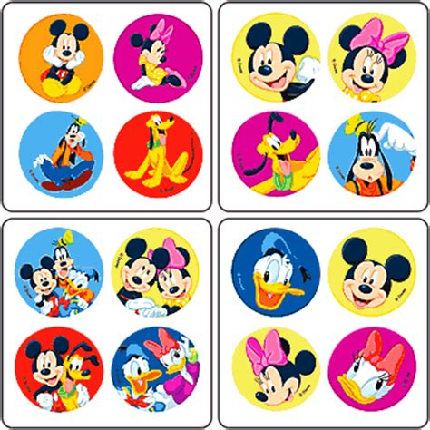 Sticker Stiker Label Pengiriman Disney Mickey Mouse Miki Tikus mickey friends minibadges disney stickers