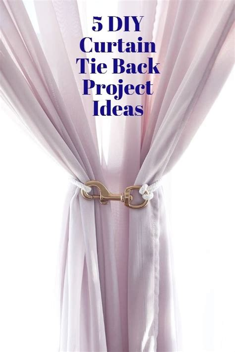 how to use curtain tie backs make it 5 diy curtain tie backs creative one home and
