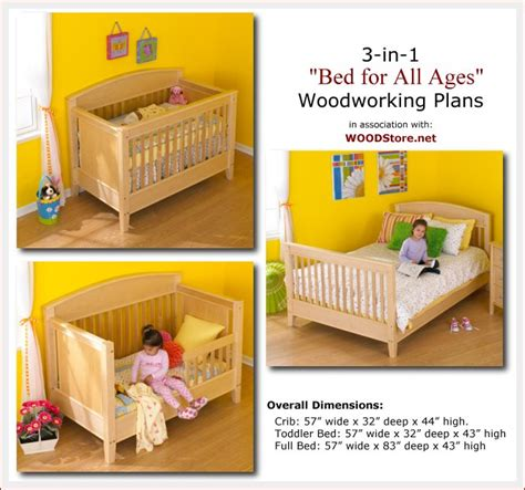 3 In 1 Baby Crib Plans Build Your Own Bed Plans