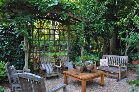 Garden With Patio Pea Gravel Patio Traditional With Garden Alcove