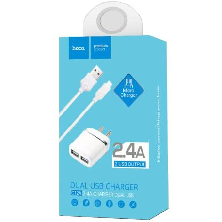 Hoco Charger Mobil 1 Usb Port Dengan Kabel Micro Usb 3 4a Z14 hoco c12a usb charger 2 port 2 4a dengan kabel micro usb white jakartanotebook
