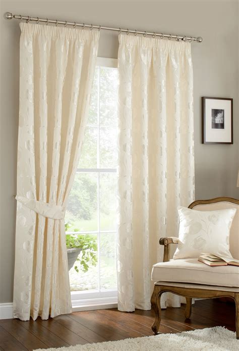 ivory lined curtains linby ivory lined pencil pleat curtains woodyatt