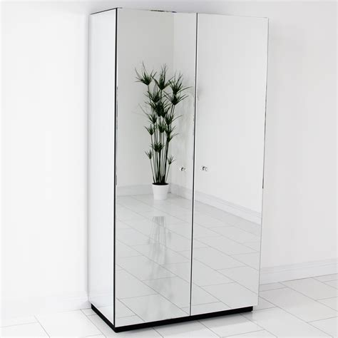 Mirror Wardrobe by Venetian Mirrored Glass 2 Door Wardrobe