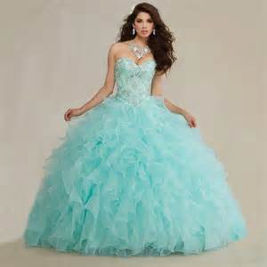 mint color quinceanera dresses new arrival 2016 embroidery beaded sweetheart organza