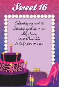 4 best images of sweet 16 printable birthday cards free