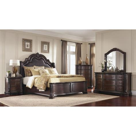 Coaster King Bedroom Set by Coaster Maddison 4 King Panel Bedroom Set In Brown