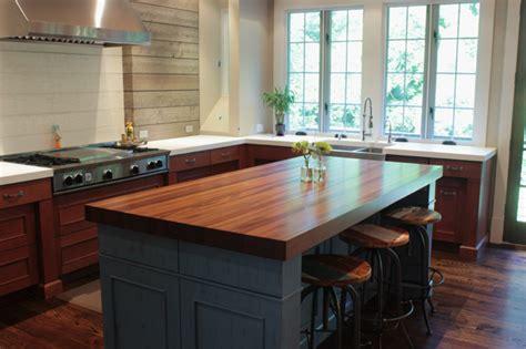 kitchen island with wood top sapele mahogany countertops j aaron