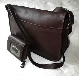 Rur20225 Tas Fashion Import Tote Lv Brown coach vtg classic brown leather city bag messenger purse w zip around sm wallet ebay