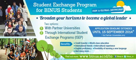 student exchange program binus university