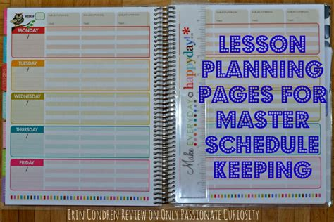 homeschool lesson planner book homeschool planning erin condren teacher s planner