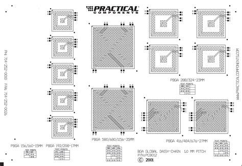 pcb layout for bga pc012 bga global daisy chain test kit