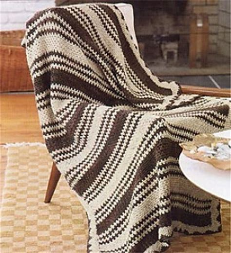 color pattern crochet ravelry striped two color crocheted afghan pattern by