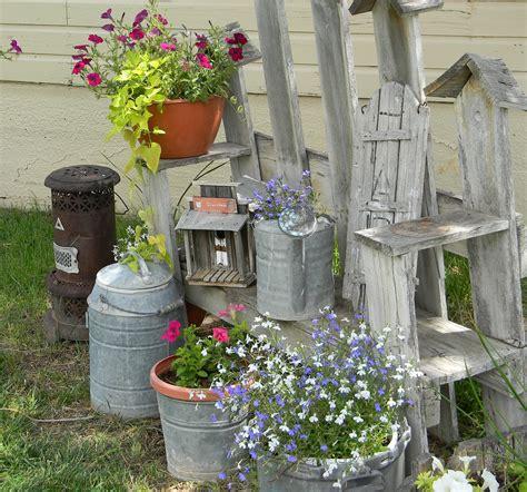My little shabby chic garden spot my modern country