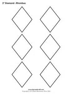 shape stencil templates printable rhombus shapes blank pdfs
